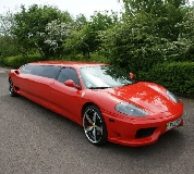 Ferrari Limo in Cowbridge