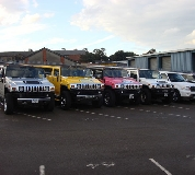 Jeep Limos and 4x4 Limos in Rhayader